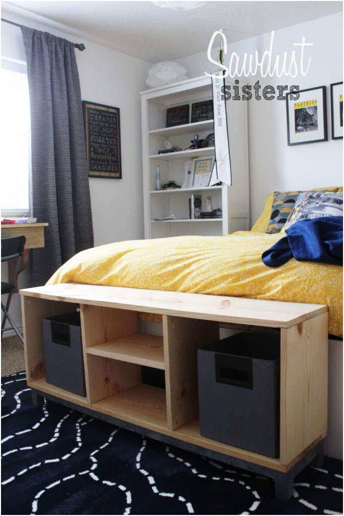 2 DIY Bench with Storage Compartments IKEA Nornas look alike via simphome