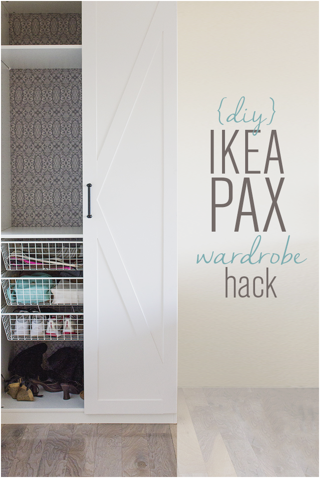 20 Fifeteen dollar Ikea Pax Door makeover via simphome