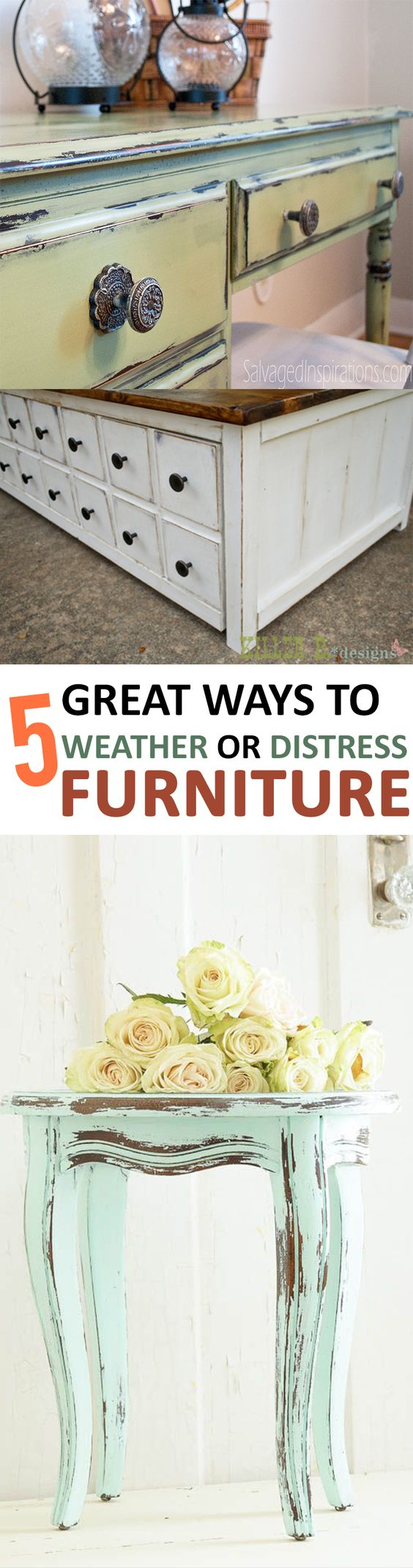 22 5 Great Ways to Weather or Distress Furniture via simphome