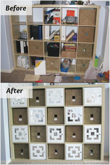 22 DIY Doors for IKEA Expedit Cubby Shelf via simphome