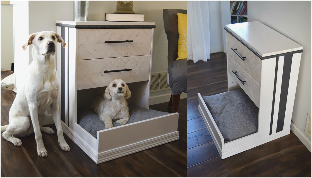 24 IKEA Rast dresser hack dresser into dog bed via simphome