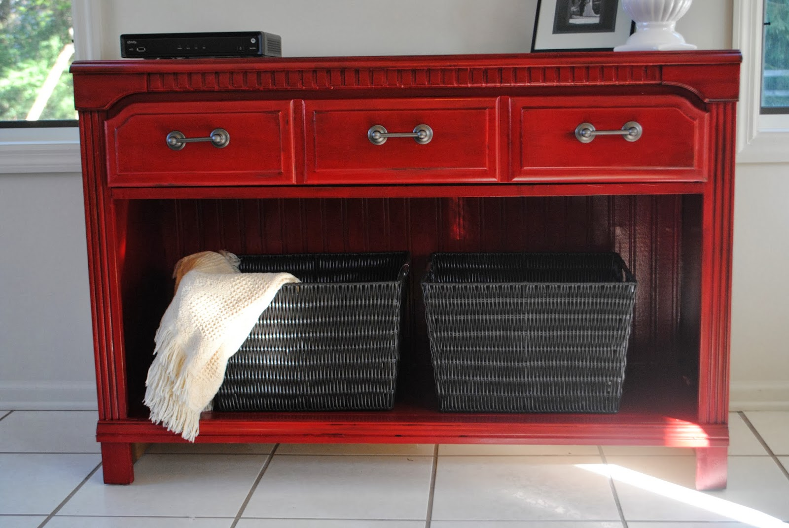 26 Thrifted Dresser to TV Stand or Buffet or Entryway Table via simphome JPG