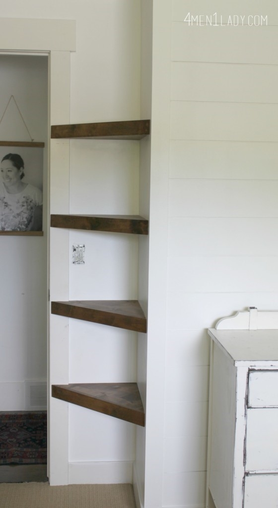 3 Floating Corner Shelves via simphome