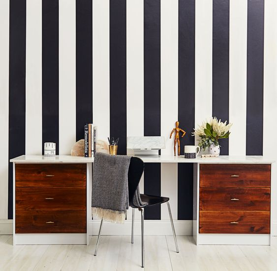 35 Transform a pair of IKEA RAST chests into a handy computer desk via simphome