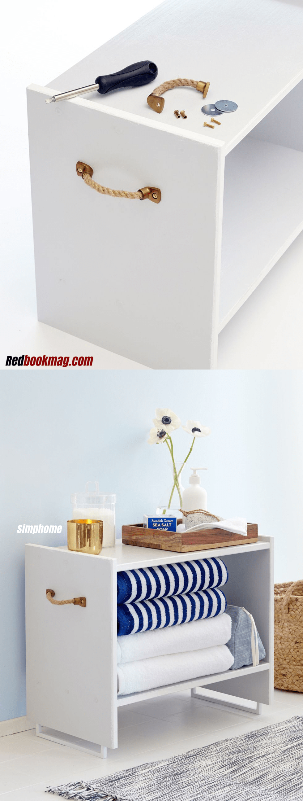 36 Use IKEA RAST nightstand for storing towels via simphome