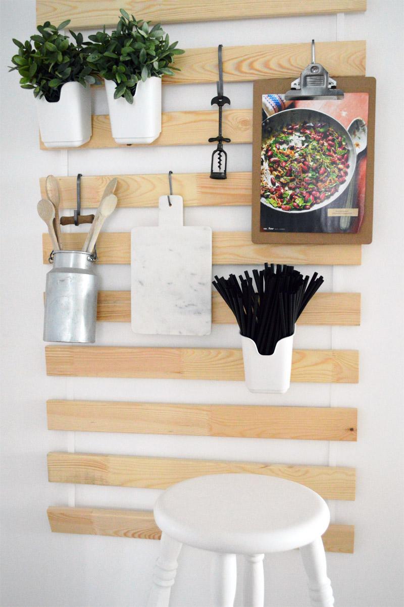 37 You can use IKEAs Sultan Lade slats as wall storage via simphome