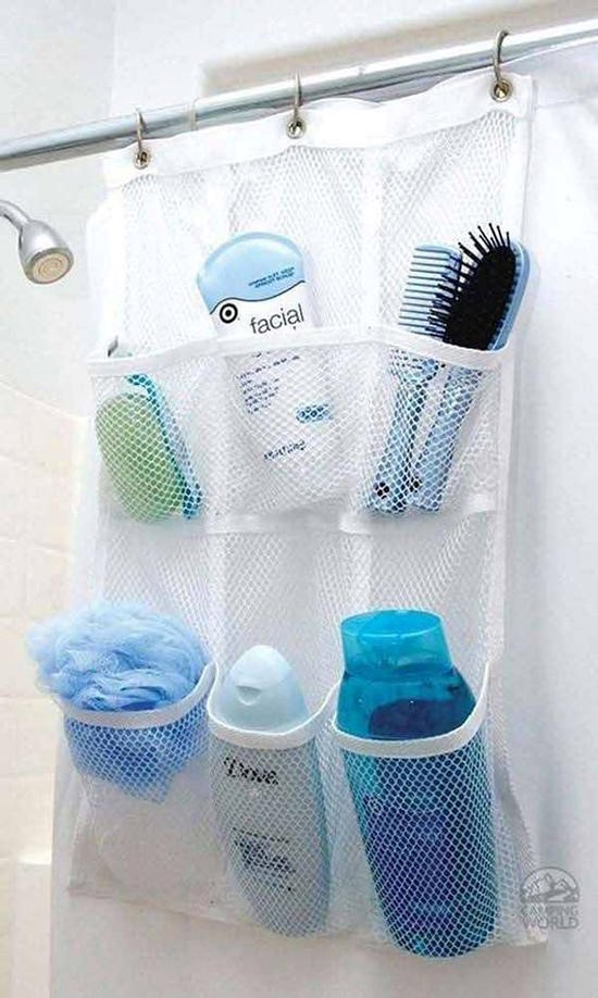 4 Hanging Shoe Organizer in The Bathroom via simphome