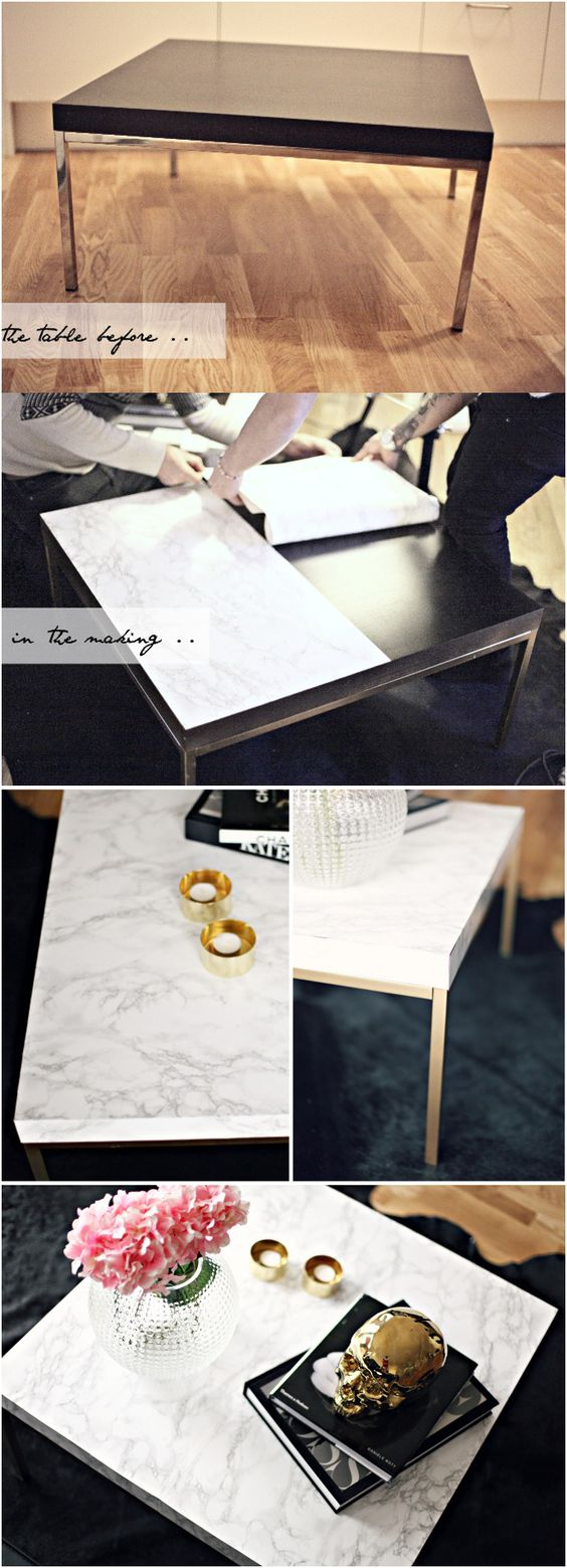4 DIY – MARBLE TABLE via simphome