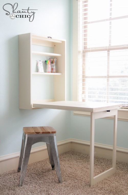 5 DIY Foldable Desk via simphome
