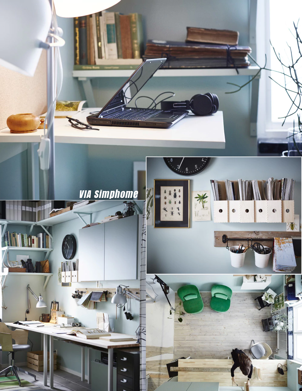 50 Work Room ikea inspiration via simphome