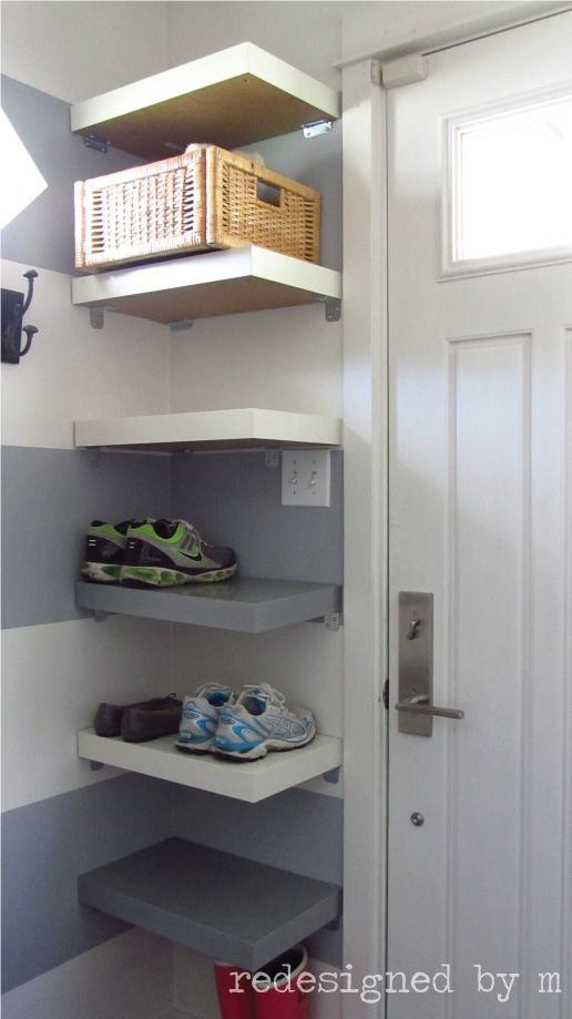 56 Transform Dead Space into Shoe Storage with Lack Table Shoe Shelves via simphome