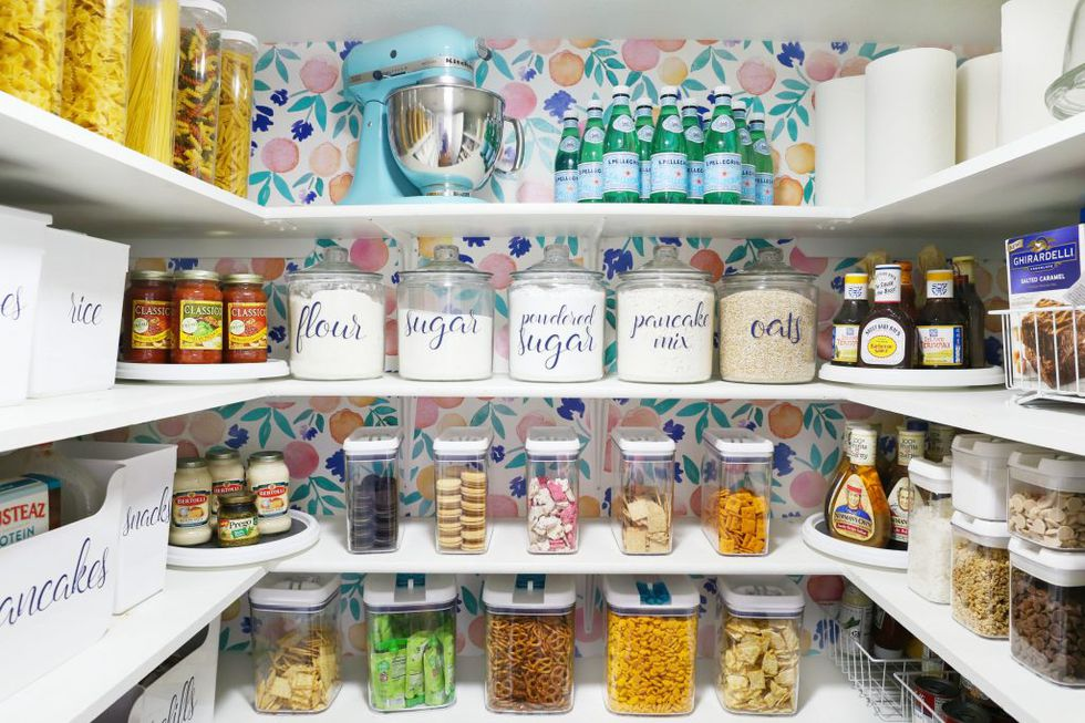 8 Try Organizing Bottles and jars Using Trays via simphome