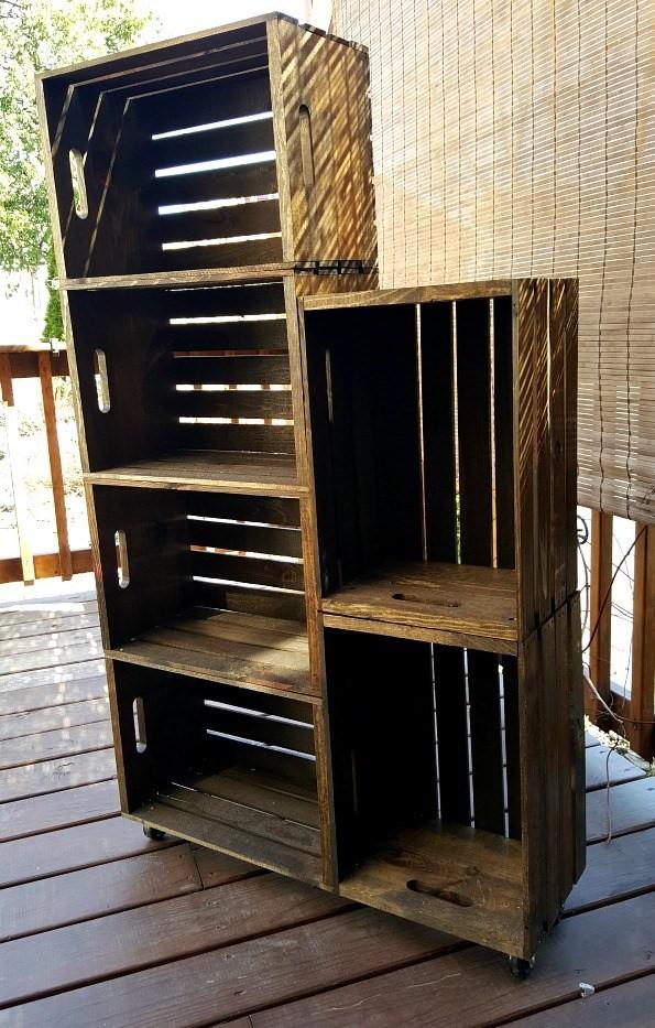 9 Wooden Crate Shoe Shelf via simphome