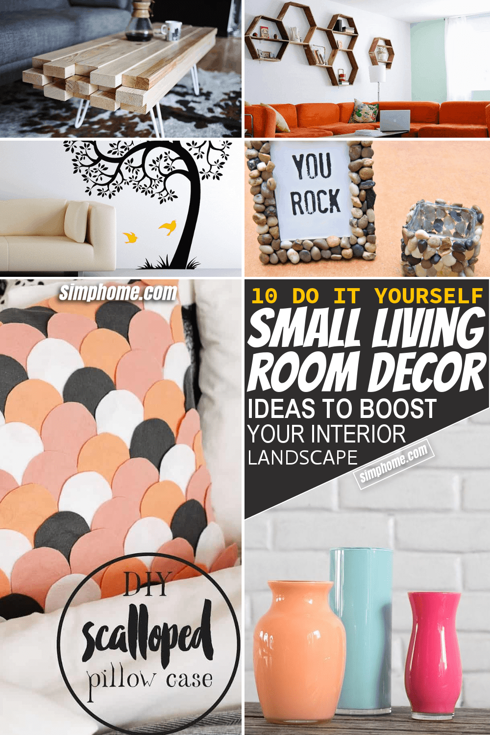 Simphome.com 10 DIY Small Living Room Decor Ideas Featured Pinterest Image