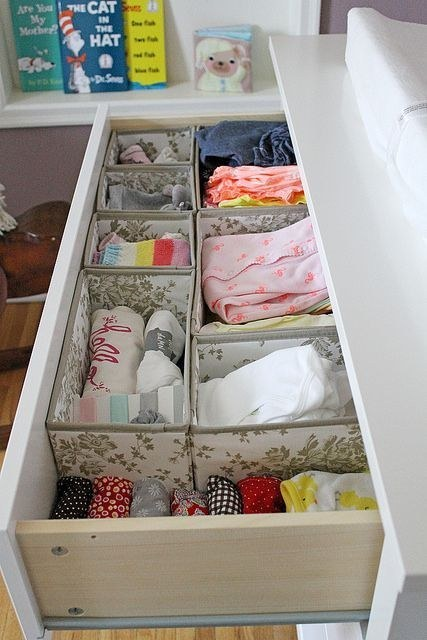 1 Use Skubb boxes to organize baby clothes via simphome
