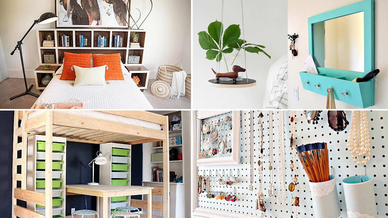10 Bedroom Organization DIY for People with Limited Floor Space via simphome featured