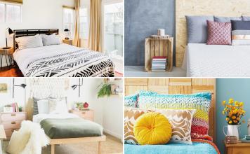 10 Cheap Bedroom Design Ideas via simphome featured