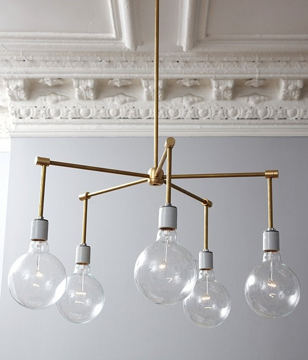 10 Fantastic Brass Chandelier via simphome