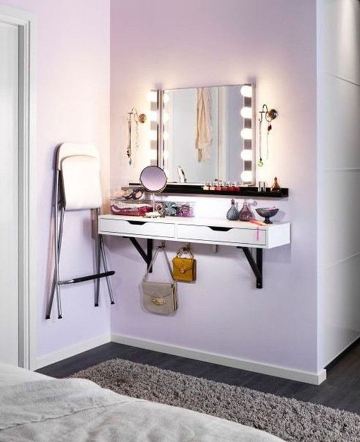 10 Wall Mounted Dressing Table via simphome