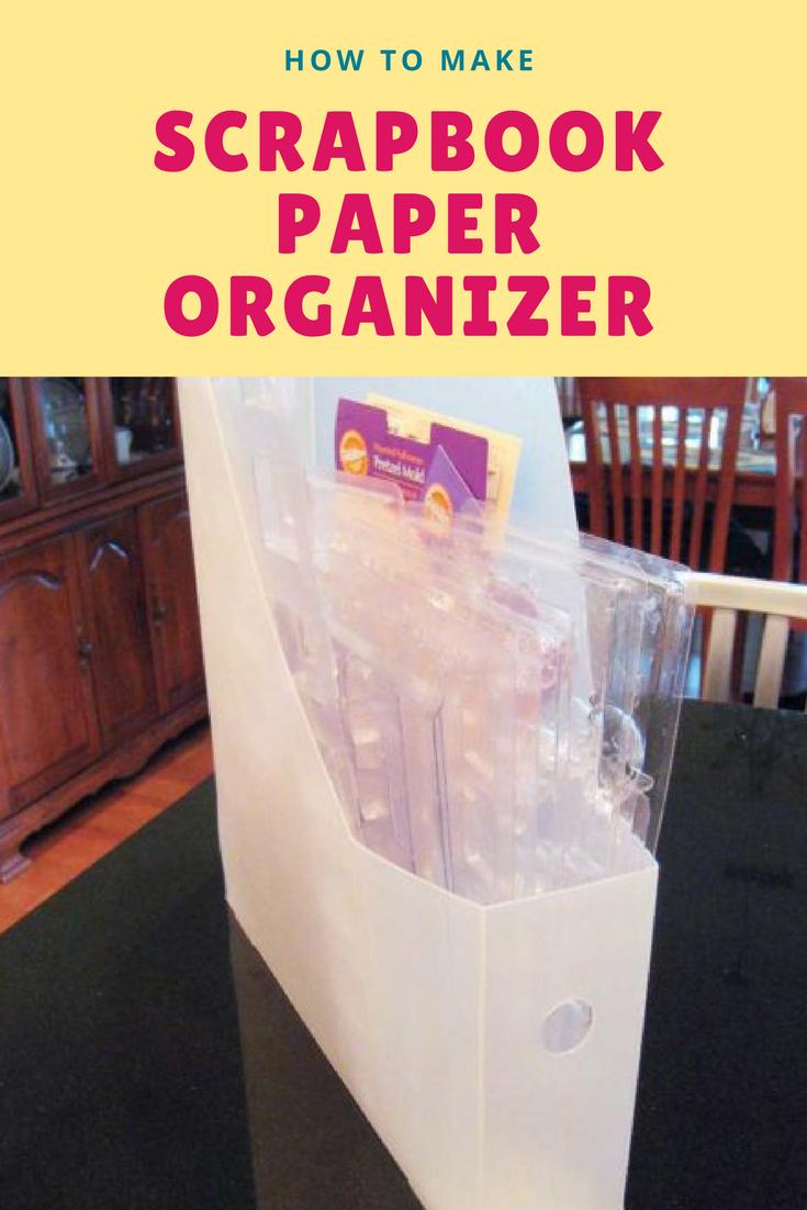 12 Scrapbook paper organizer via simphome