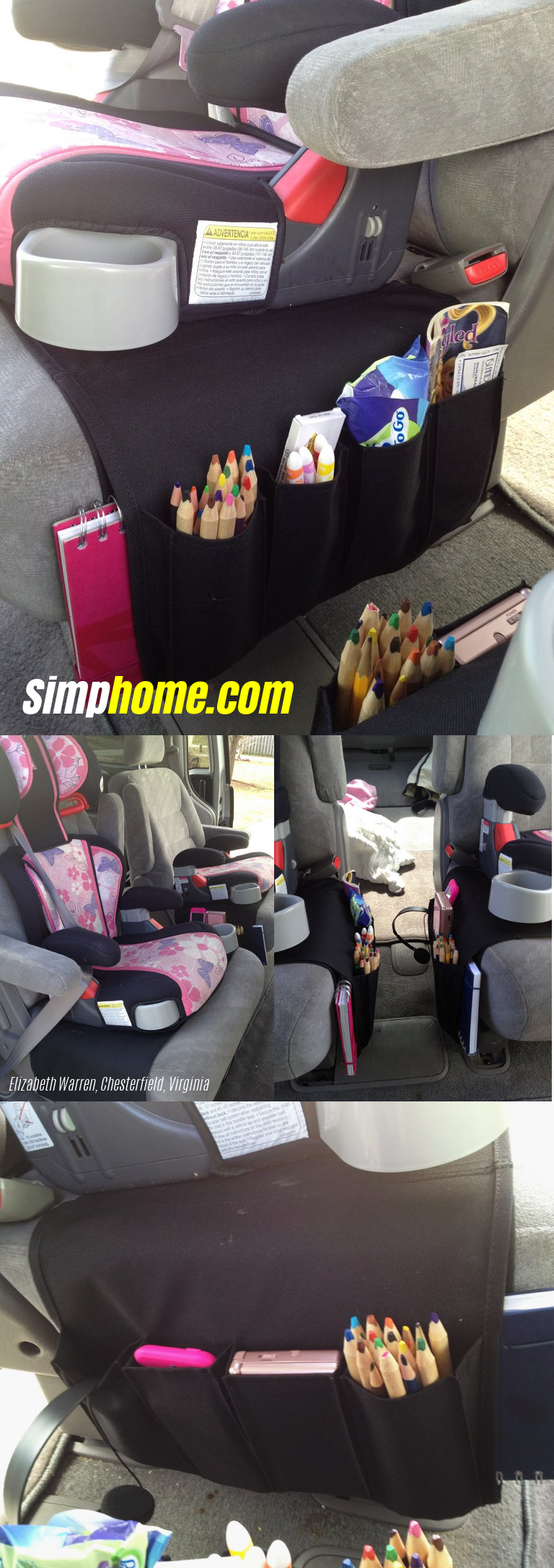 13 Use the Flort remote holder in the car for all your kids stuff via simphome 1