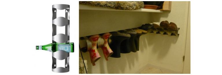 14 Ikeas wine holder becomes a receptacle for shoes via simphome 1