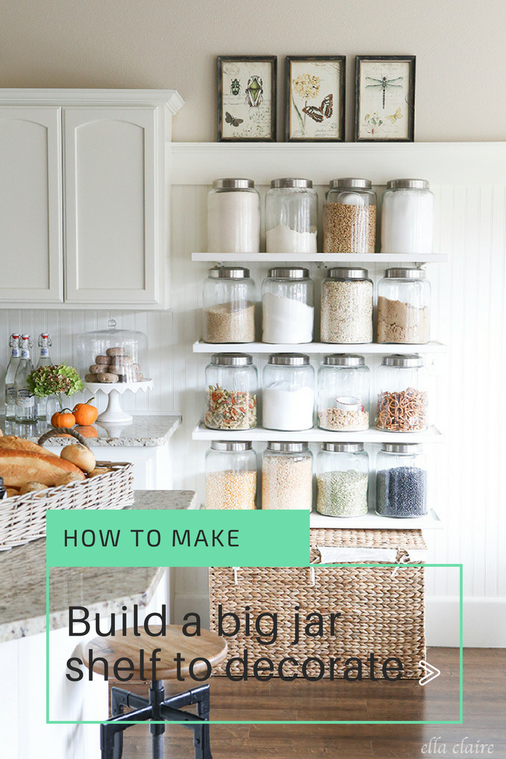 15 Build a big jar shelf to decorate via simphome