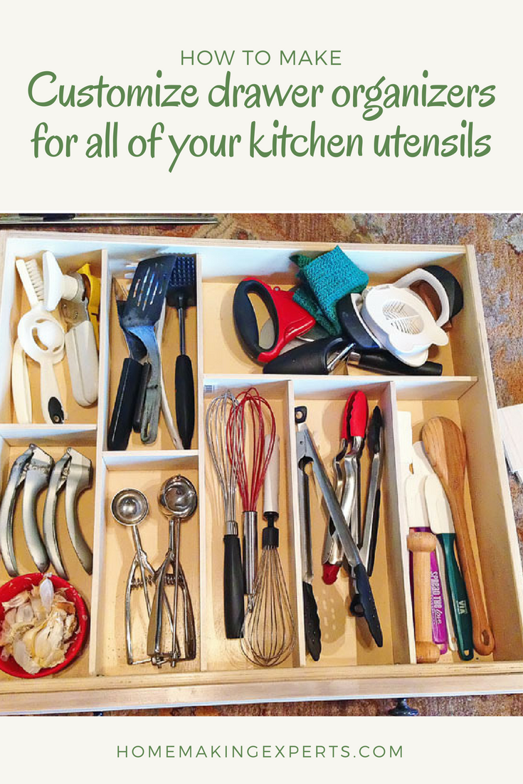 16 Customize drawer organizers for all of your kitchen utensils via simphome