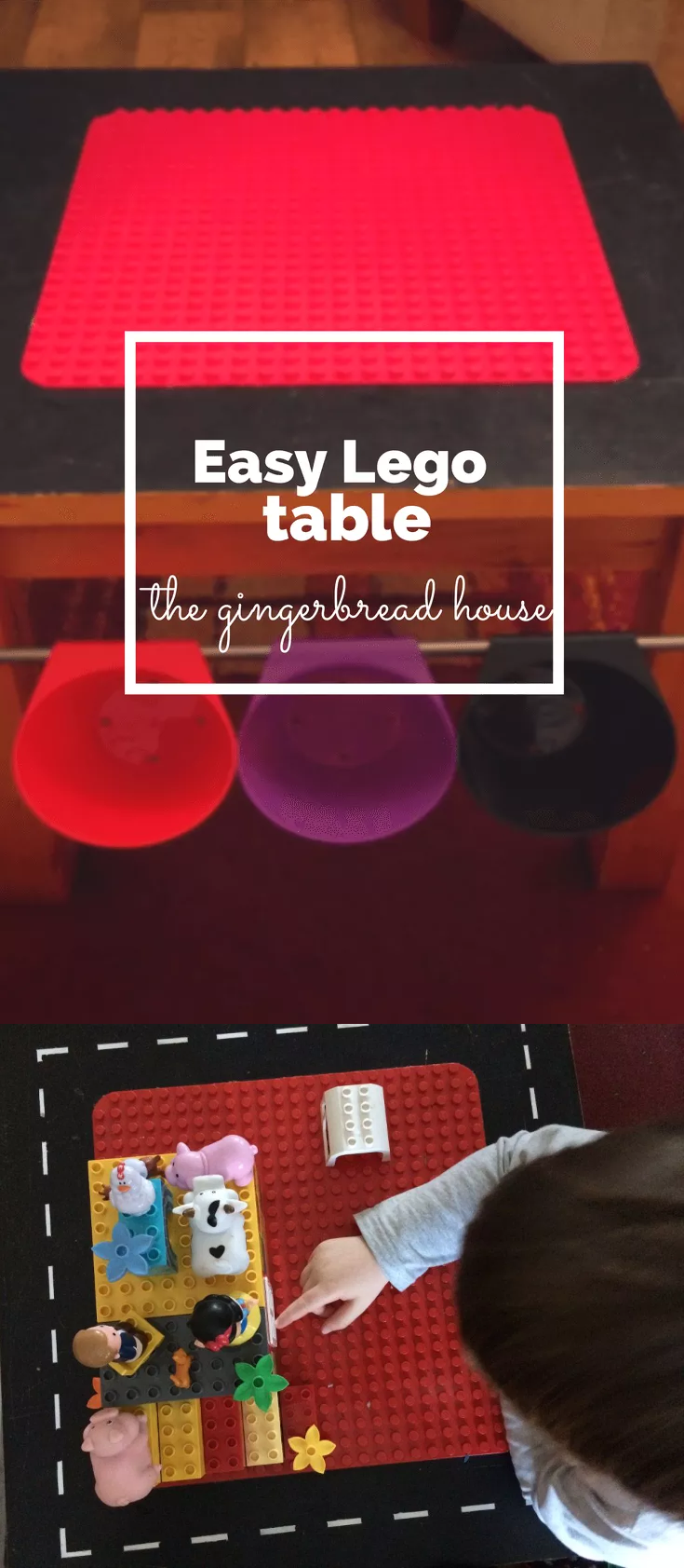 16 Use Bygel rails to turn a table into a Lego Duplo table via simphome