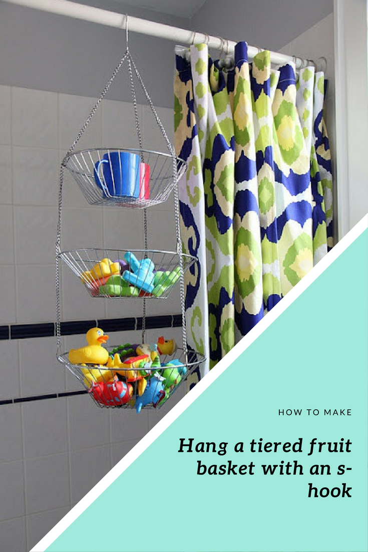 19 Hang a tiered fruit basket with an s hook via simphome