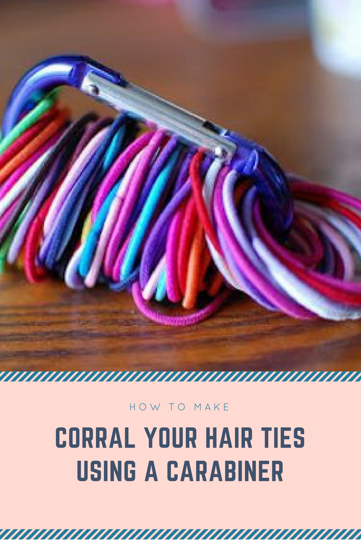 2 Corral your hair ties using a carabiner via simphome