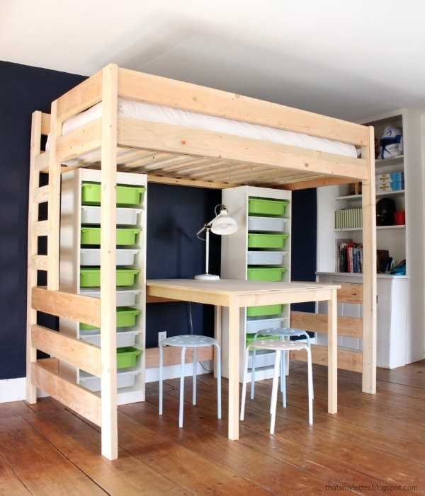 2 DIY Loft Bed via simphome
