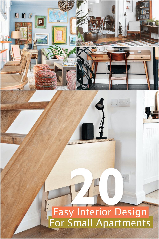 20 Easy Interior Design Ideas for Small Apartments via Simphome.com