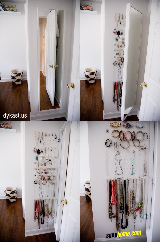 20 Put jewelry storage behind a Stave mirror via simphome