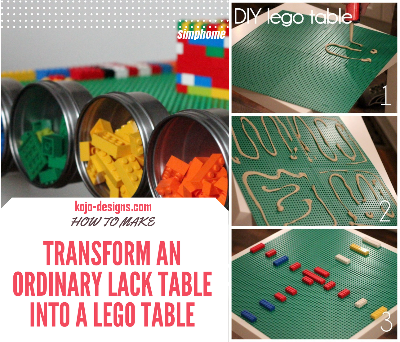 24 Transform an ordinary LACK table into a lego table via simphome
