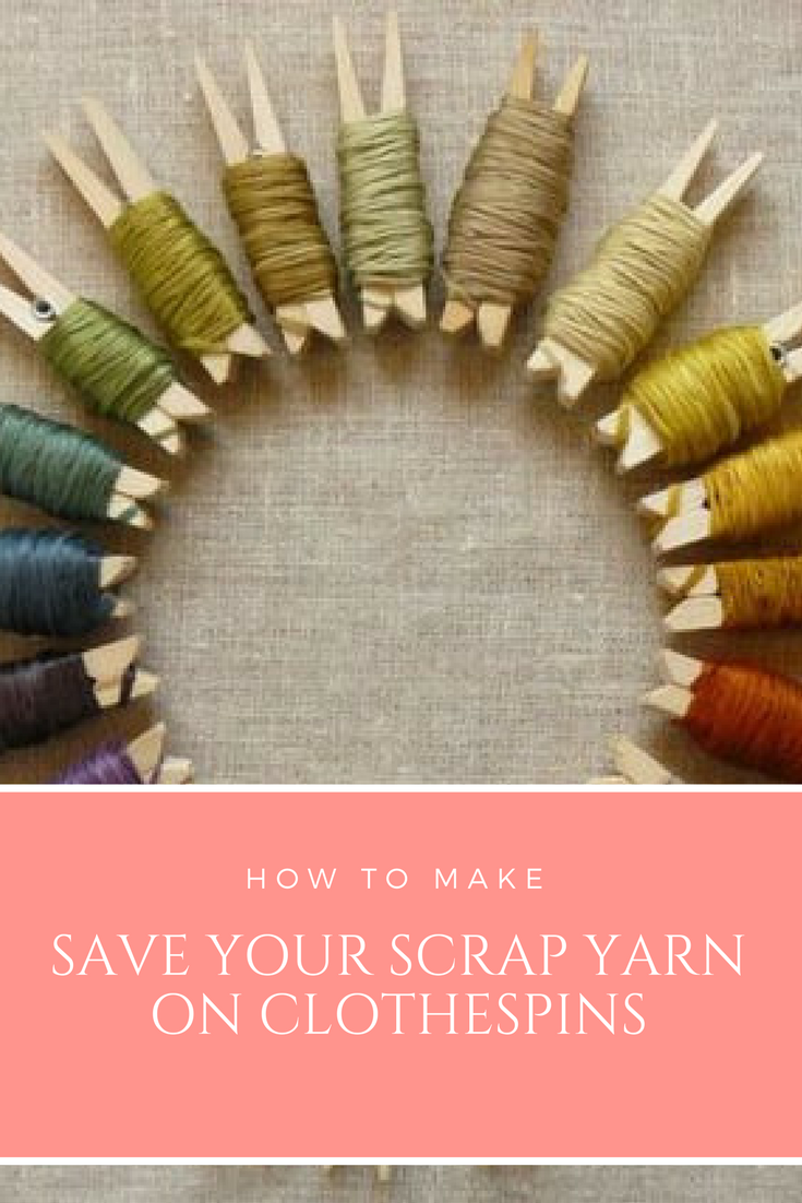 26 Save your scrap yarn on clothespins via simphome
