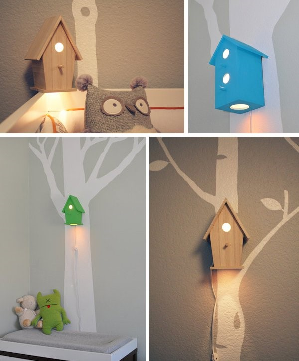 3 DIY Birdhouse Lamp via simphome