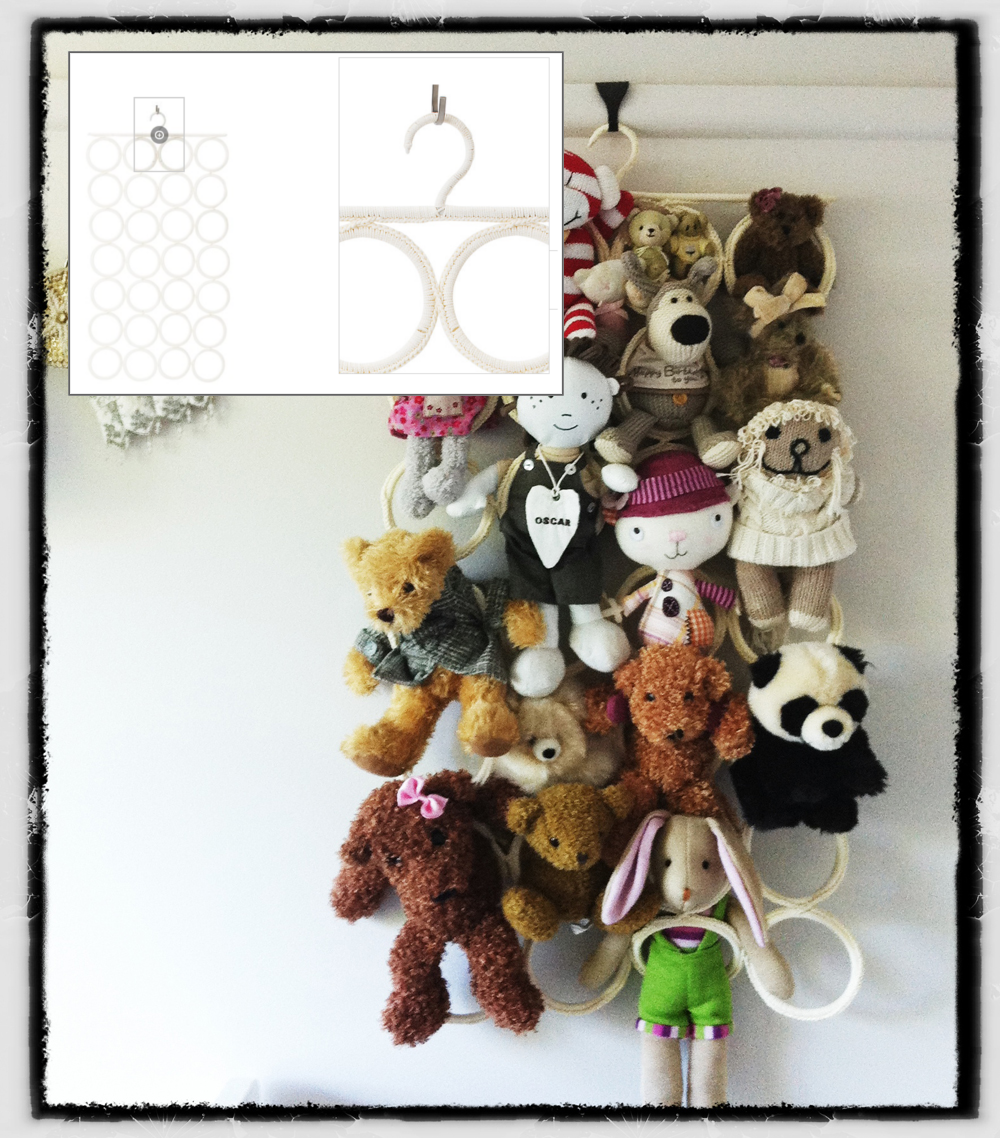 30 Corral those stuffed animals with Komplements multi use hanger via simphome