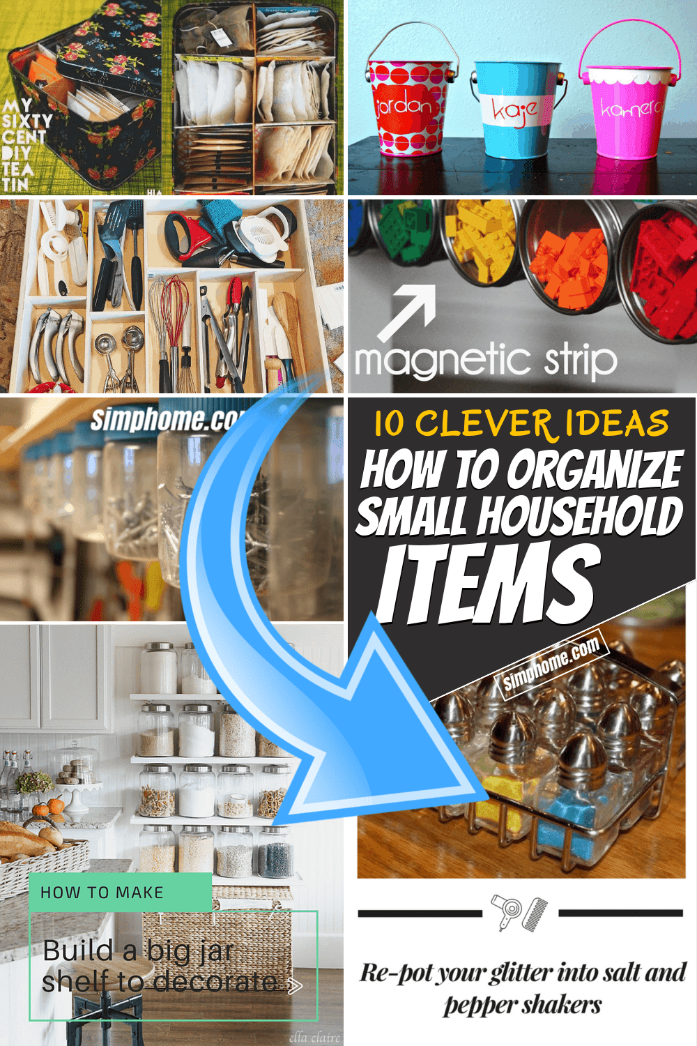 33 Clever Ideas How to Organize Small Household Items