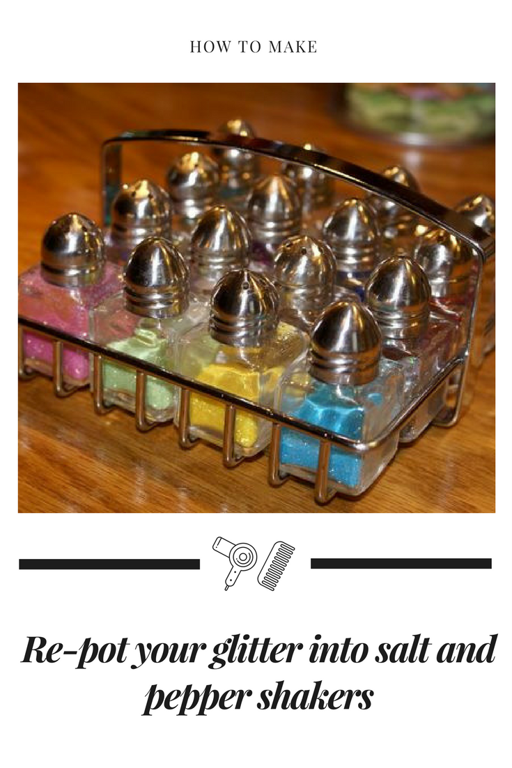 33 Re pot your glitter into salt and pepper shakers