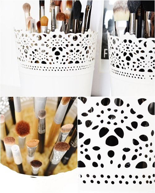 34 Skurar planters are an exceedingly adorable way to hold your makeup brushes via simphome