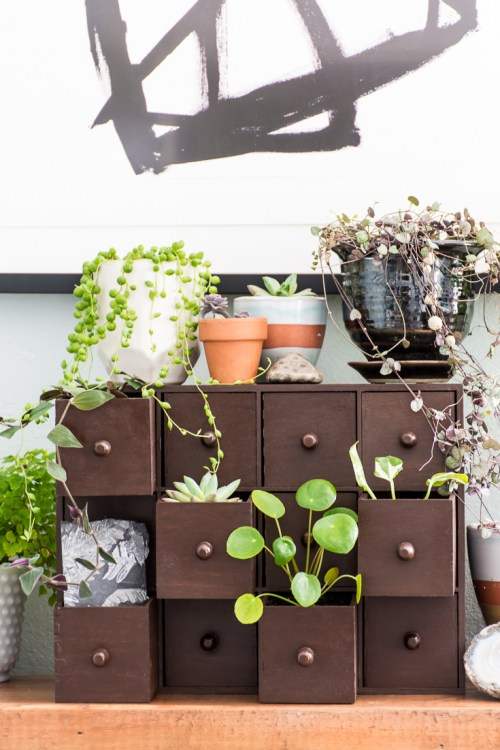 39 IKEA indoor Plant Drawer idea via simphome