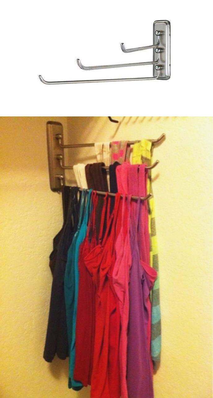 5 Hang tank tops on a Lillholmen towel holder instead of taking up valuable dresser real estate via simphome 1