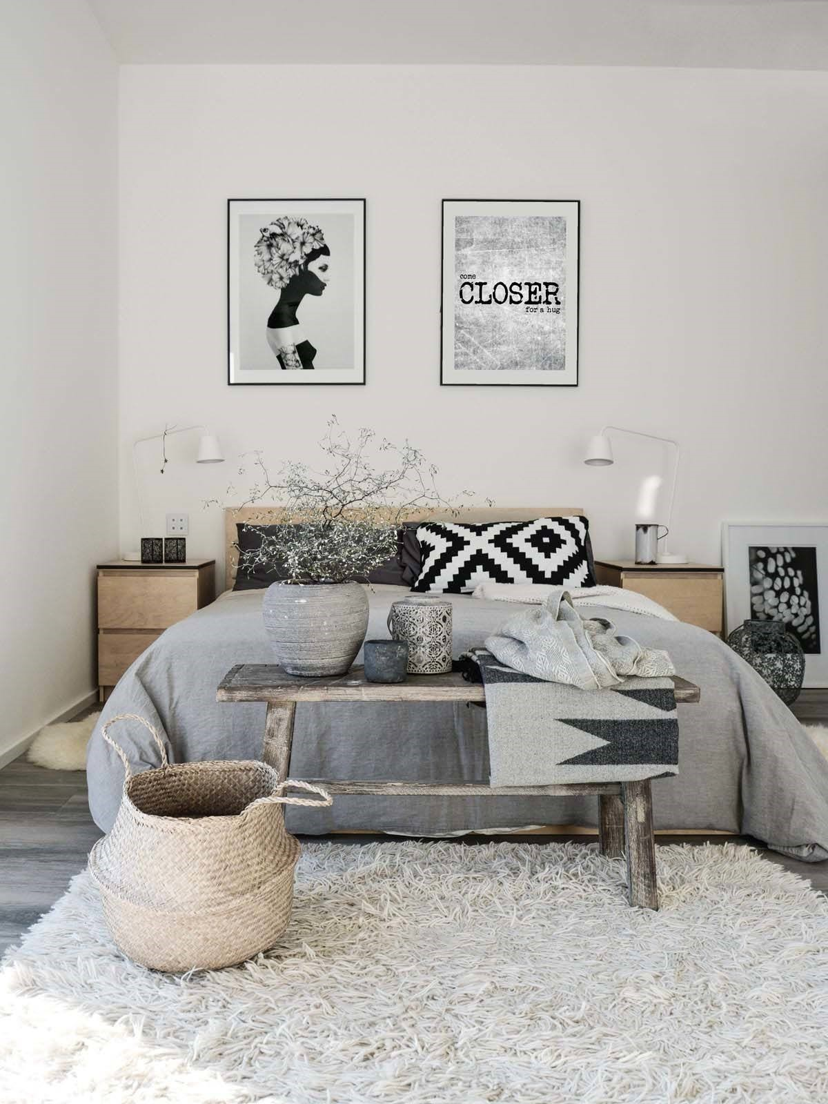5 Scandinavian Bedroom Design via simphome