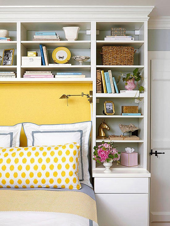 6 Use Headboard Shelves via simphome