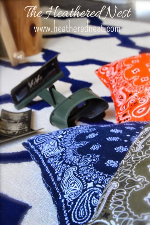 63 Bandana Pillows via simphome com