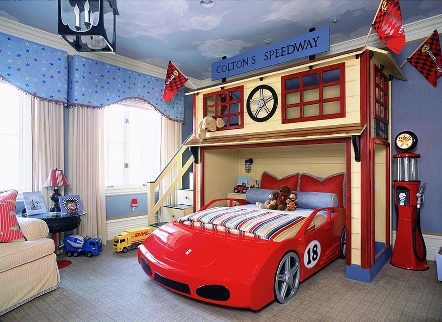 7 A Bedroom for A Racer Wannabe via simphome