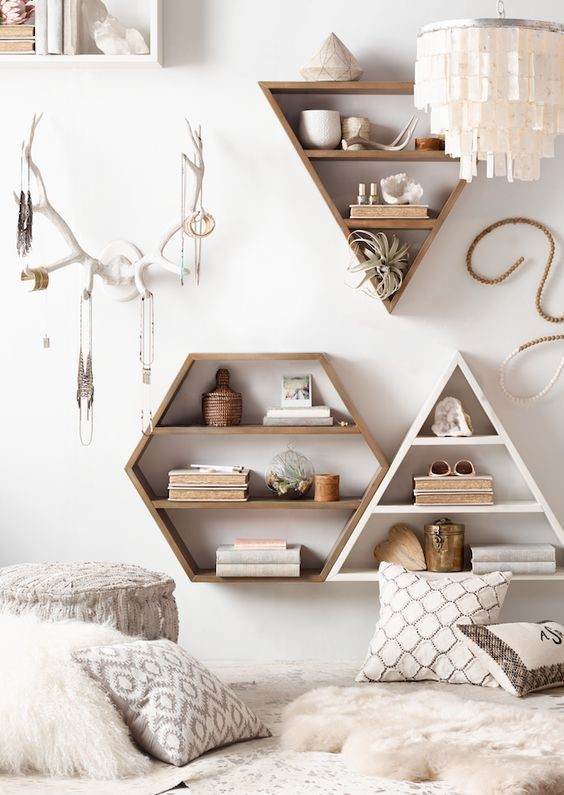 7 Be Creative with Wall Mounted Shelves via simphome