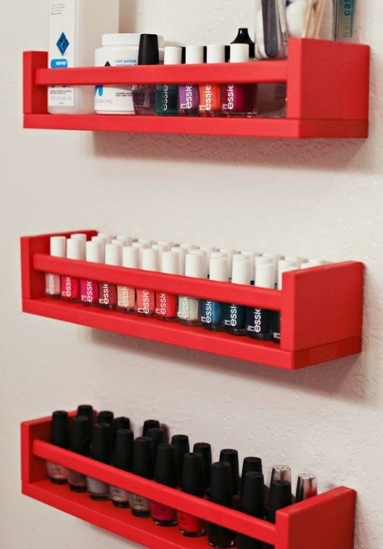 7 They also hold two rows of nail polish perfectly if youve got an overflowing collection via simphome