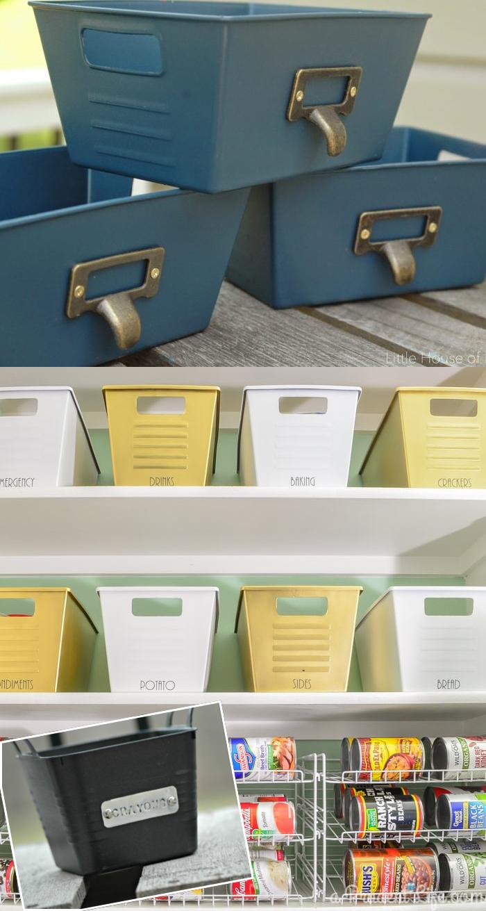 70 Dollar Store Bins to Stylish Storage via simphome